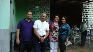 A equipe composta por (da esquerda para a direita) André Pullig, José Carlos F. Brito, Cácia Leal, e capitaneada por Meireluce Fernandes, foi até a instituição na terça-feira (feriado de 15 de novembro)